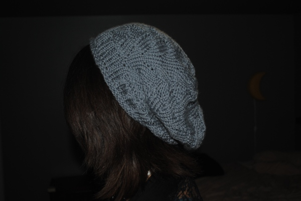 Hat from the side (that's me wearing it, not my mom).
