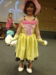 All dressed up for the Mad Hatter Party at the Southwest Library.