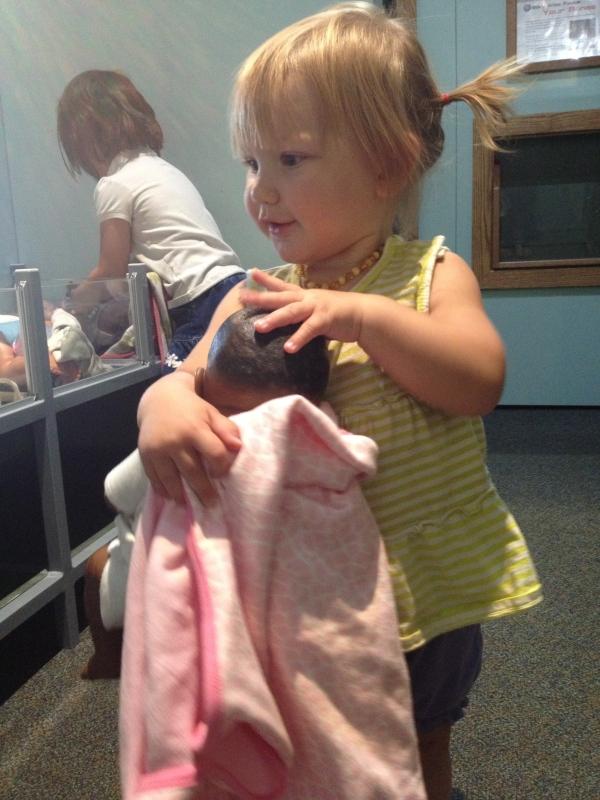 Twig loves babies.