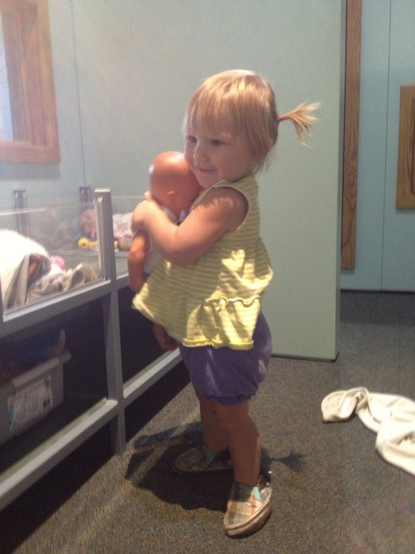 She really, really loves babies.